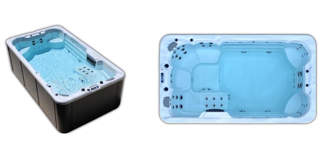 basen, swim spa, basen z przeciwprądem, madagascar, bieżnia pływacka