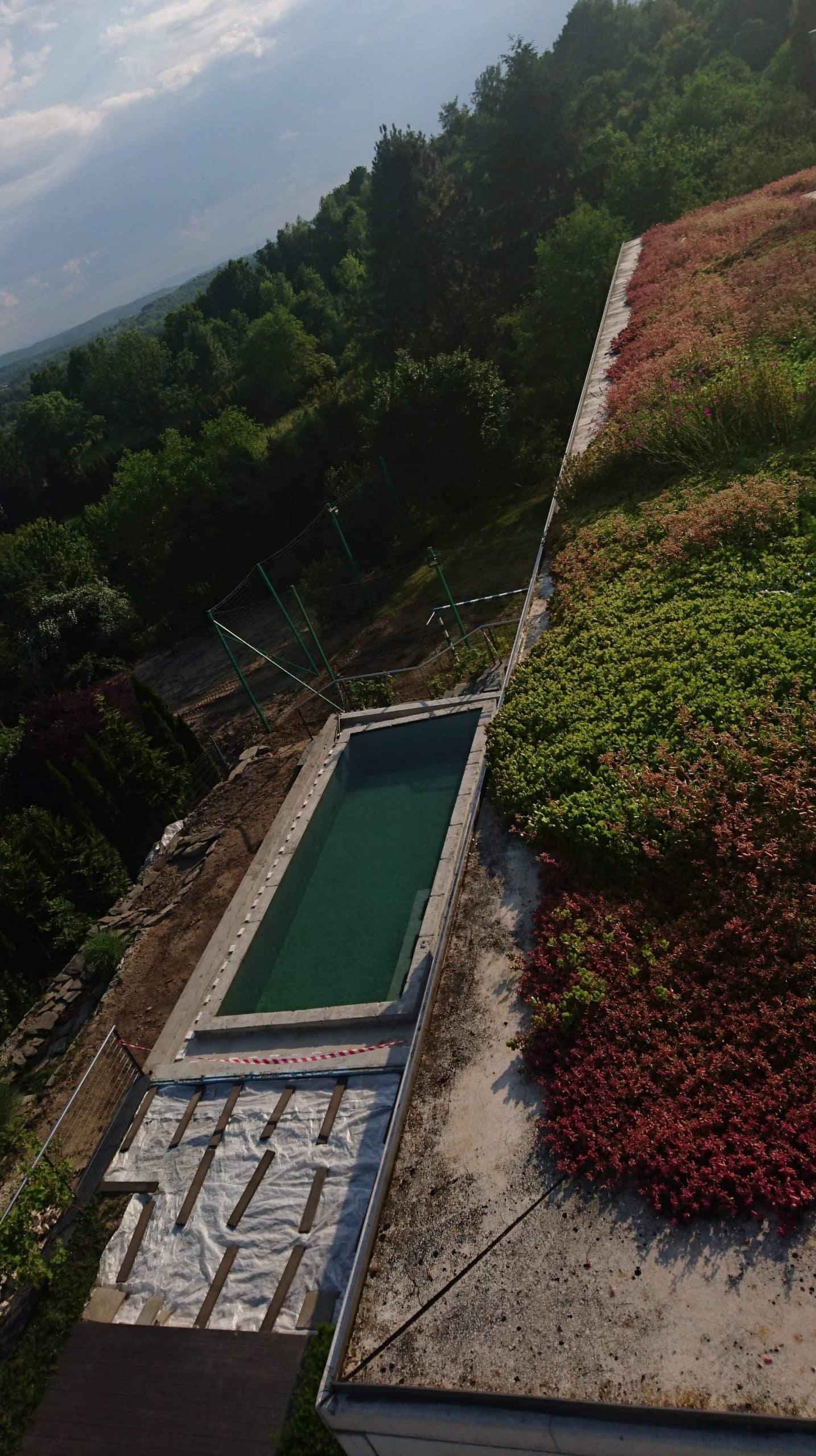 basen, niecka żelbetowa, próba obciążeniowa, budowa