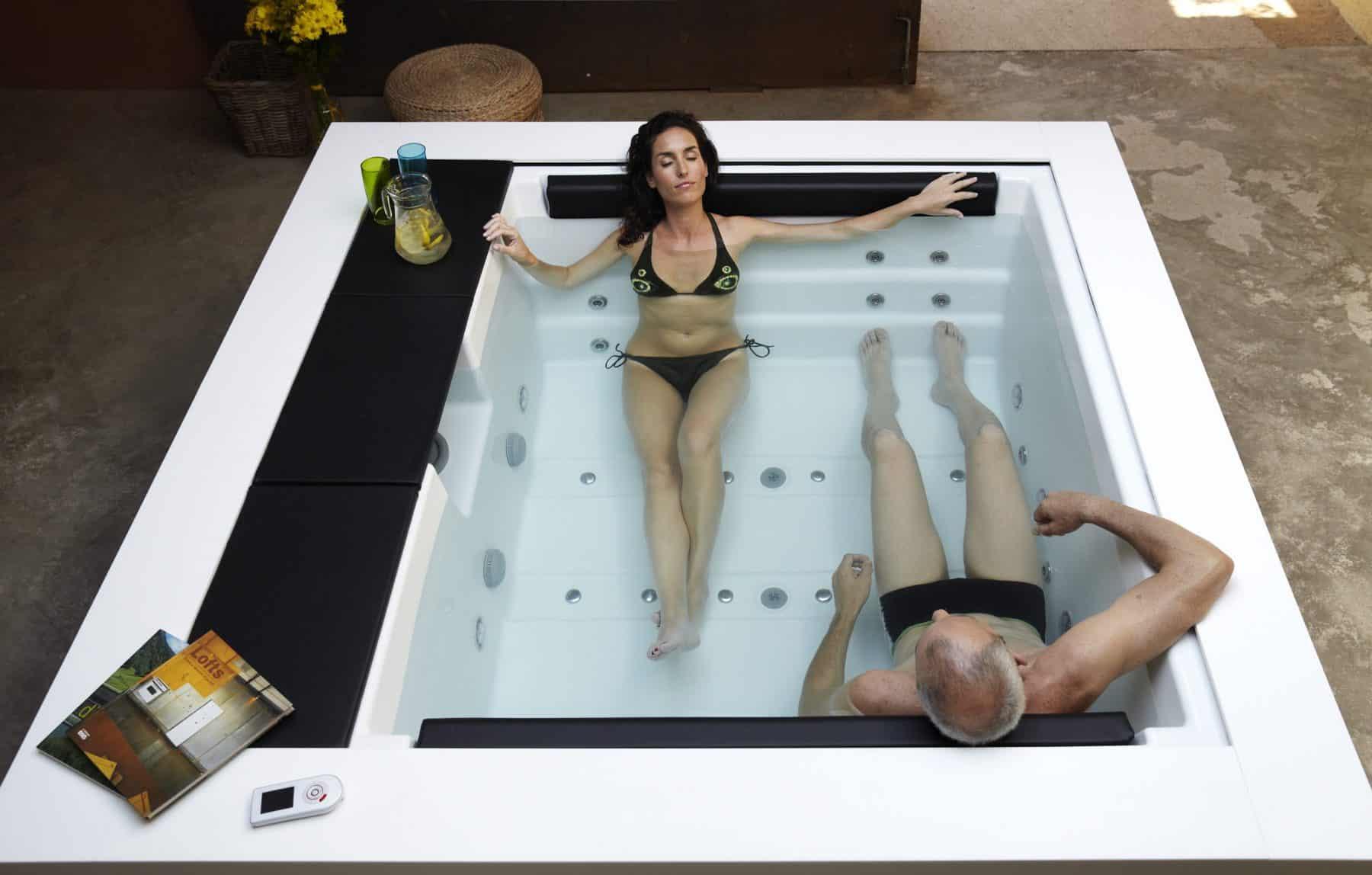 wanna spa ogrodowa jacuzzi aquavia spa basenispa basen swim spa cube