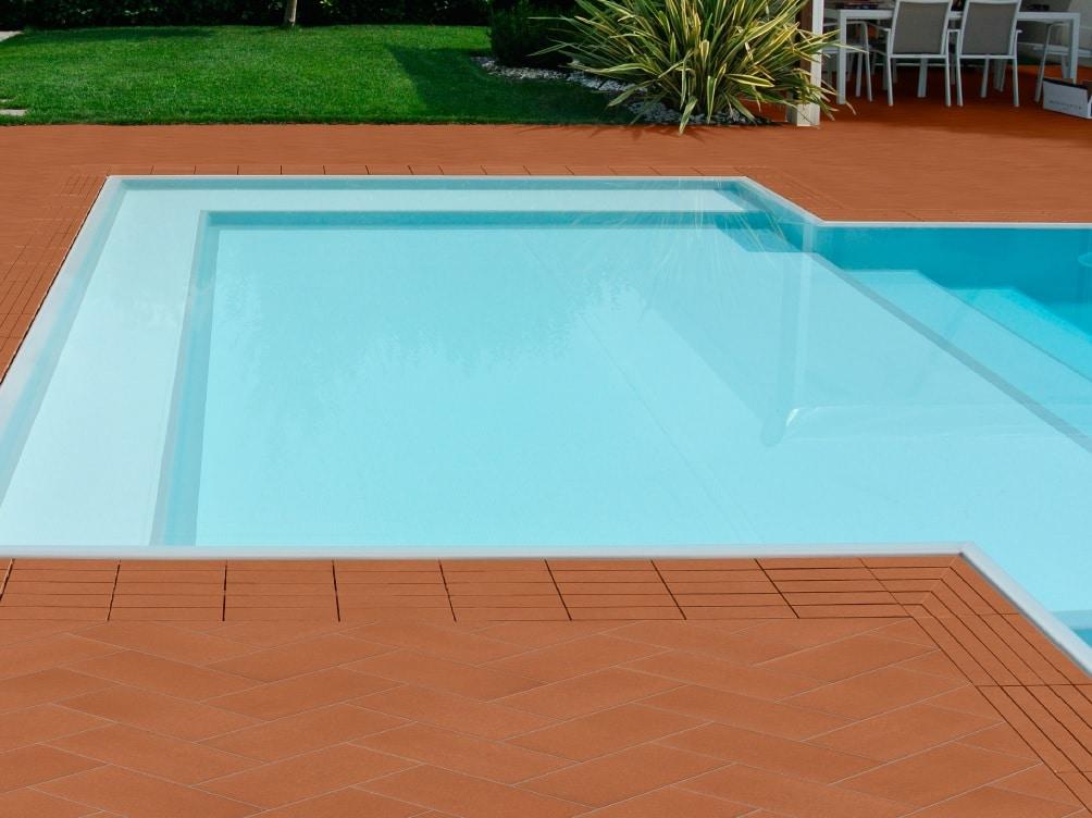 kratka przelewowa basenowa gresowa kamienna kolorowa basen infinity przelewowy Modulartem włoska elegancka klinkierowa